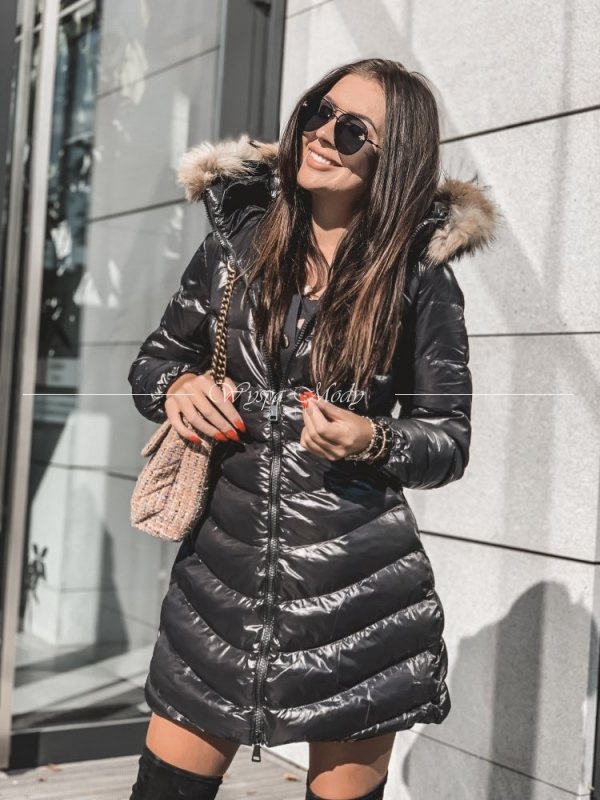 płaszcz pikowany black