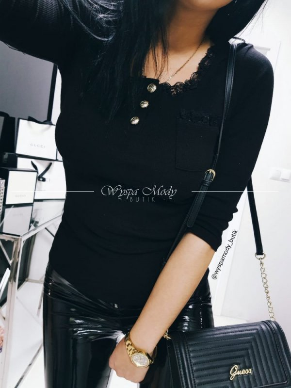 Bluzka 3250 Czarna