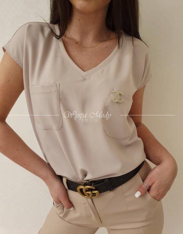 Bluzka Chanel mocca