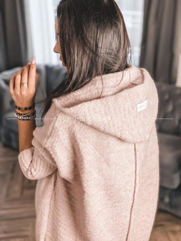 sweter włoska przędza pink