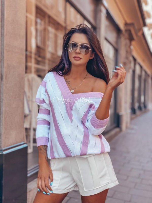 sweterek ażurkowy pink