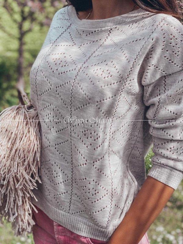 Sweter ażurowy Beige