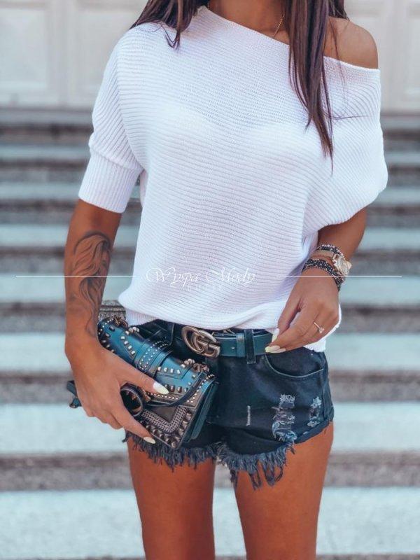 Sweter asymetryczny white