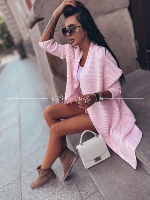 Kardigan Maroko Pink