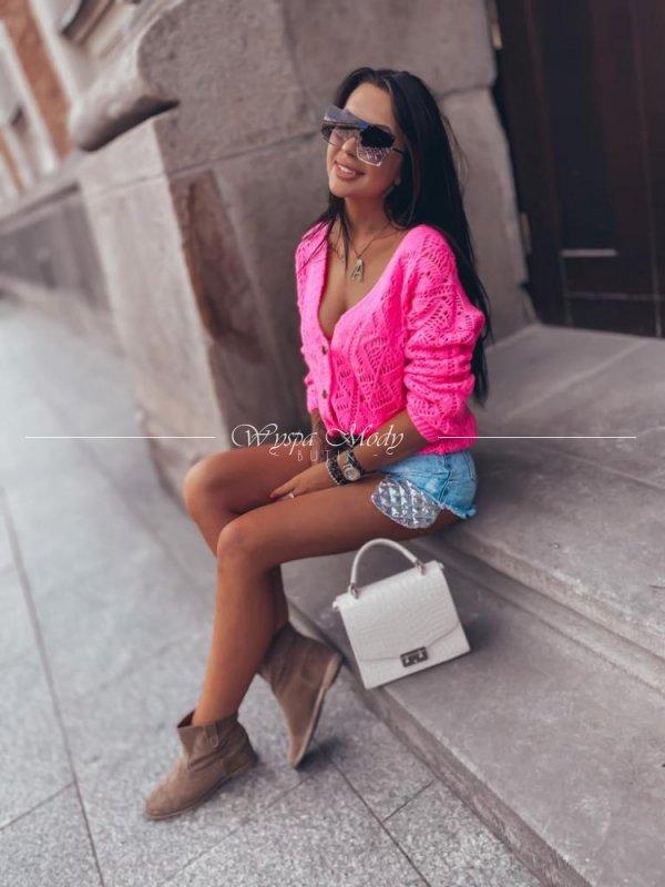 Kardigan so italian neon Pink