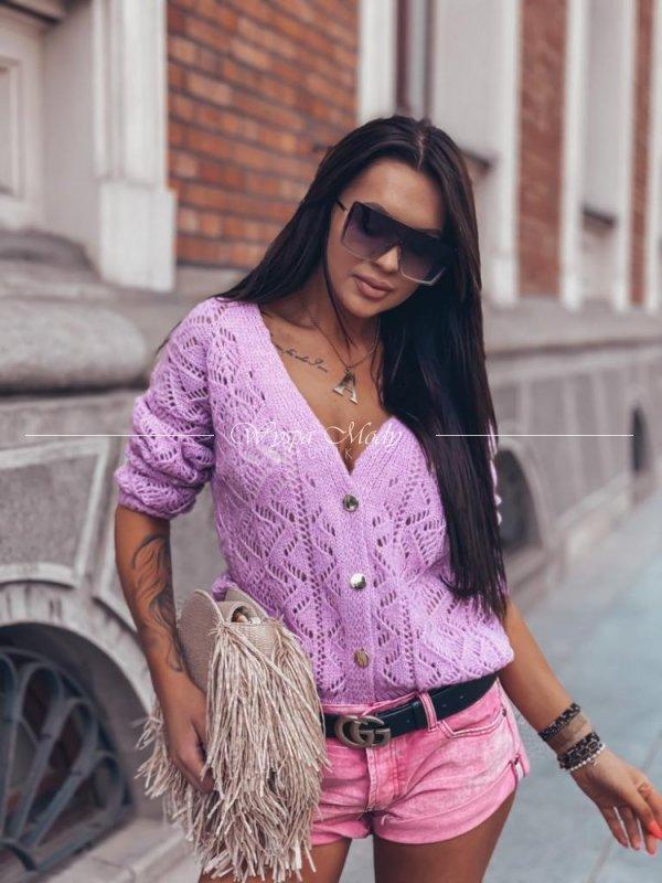 Sweterek so italian lila II