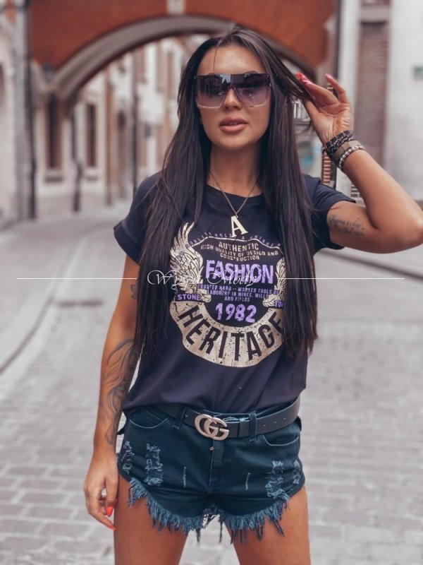 T shirt black heritage