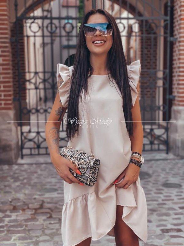 Sukienka motylek Beige