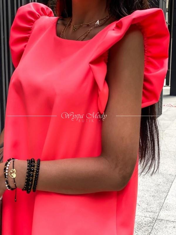 Sukienka motylek neon pink