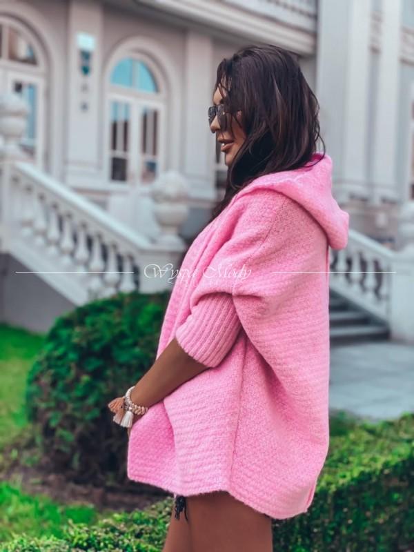 Kardigan włoska przędą Pink