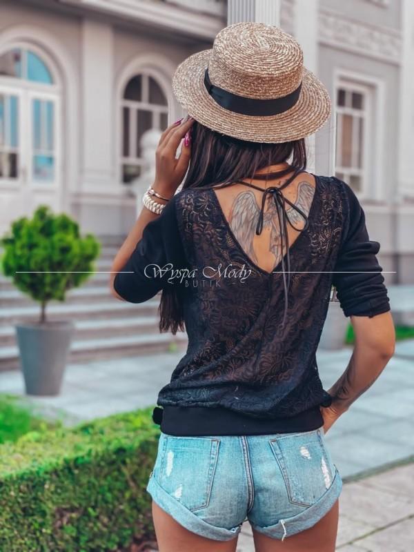 Sweterek koronka Luxury black