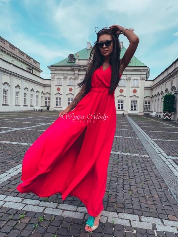 Sukienka Venzia Maxi red wysłużony czas wysylki