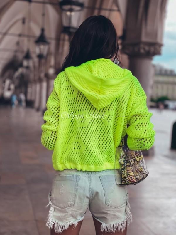 Sweterek kangurek neon