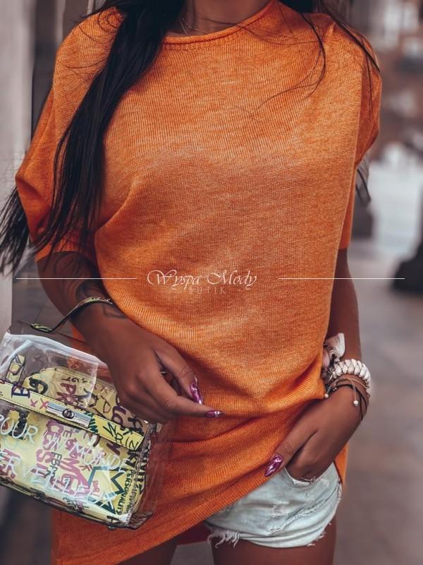 Sweterek/ sukienka miedziany