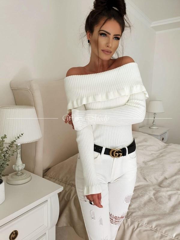 Sweterek Megan white