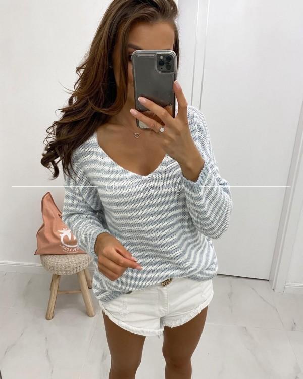 Sweterek Madlen white&gray