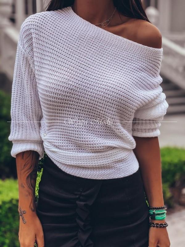 Sweterek Lola White