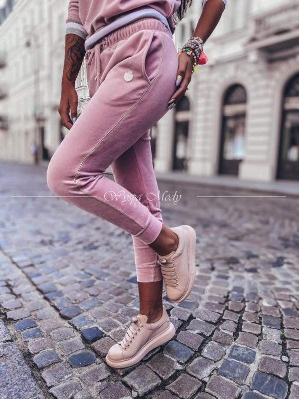 Spodnie welurowe Pink