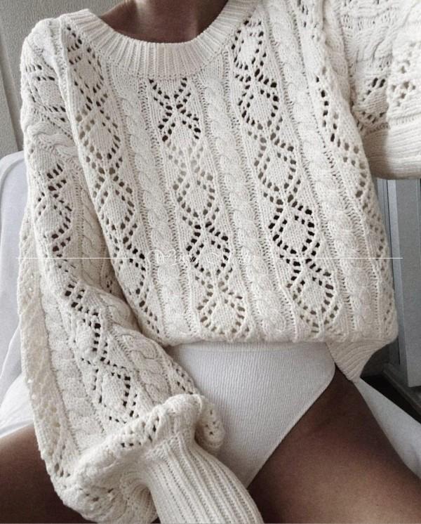 Sweter versace white