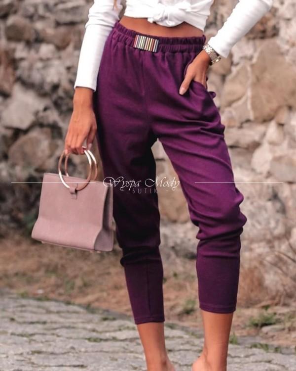 Spodnie dresowe bordo