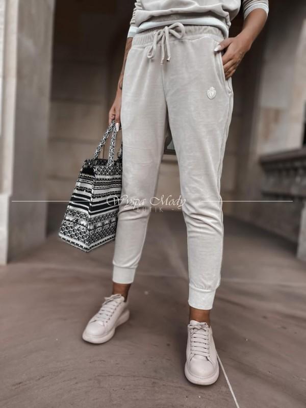 Welurowe spodnie Luise Beige