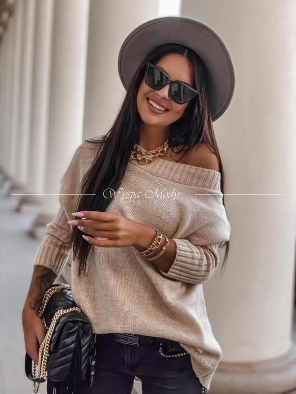 Sweter włoska przędza beige