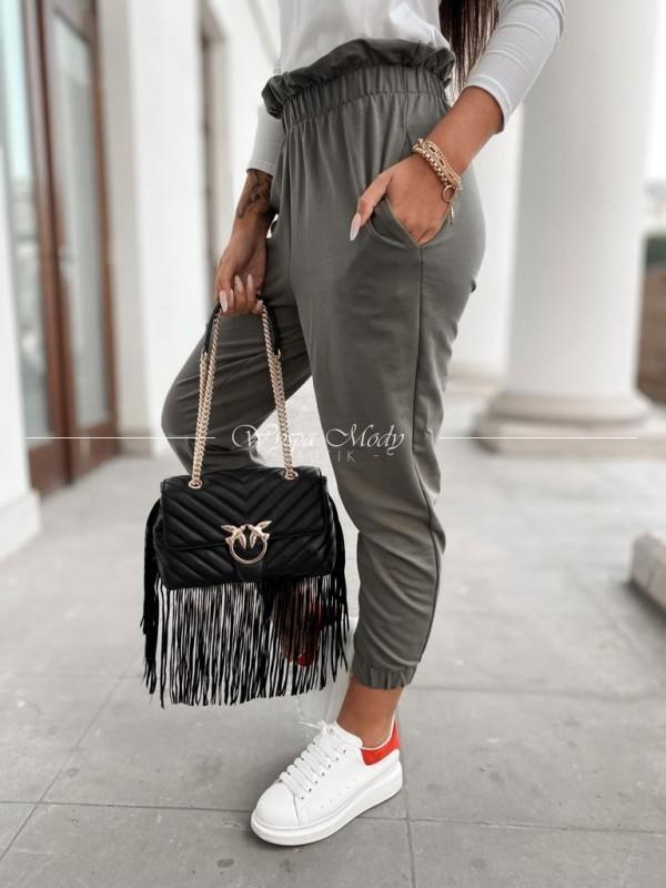 spodnie dresowe Ines khaki