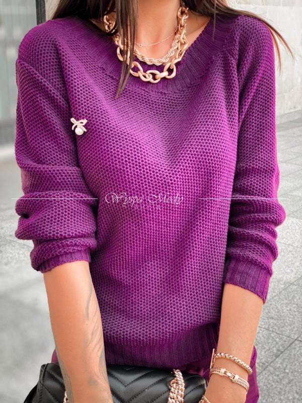 Sweterek Madlen plum