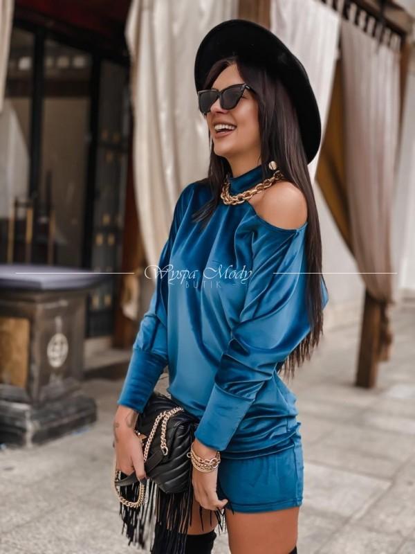 Sukienka hoker welurowa