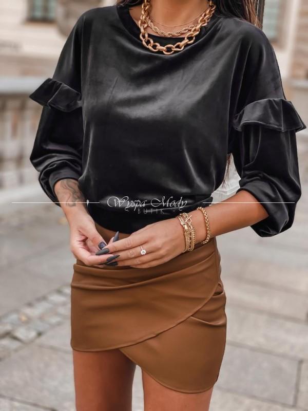 Sweterek welurowy Delia black