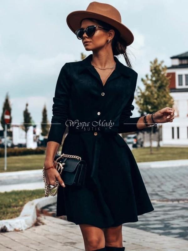 Sukienka zamszowa black lou