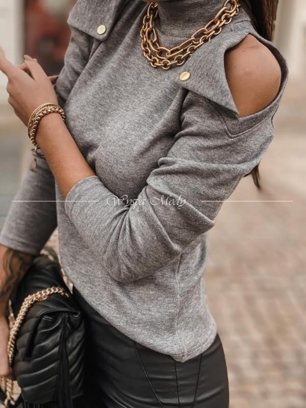 Sweterek napy szary