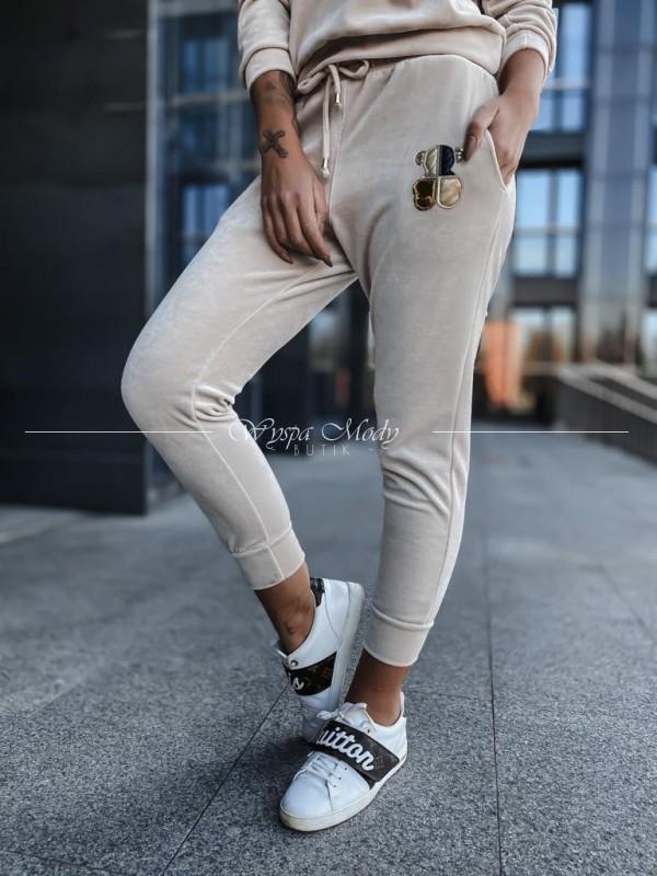 Spodnie welurowe tous beige ( czas realizacji do 10 dni roboczych )