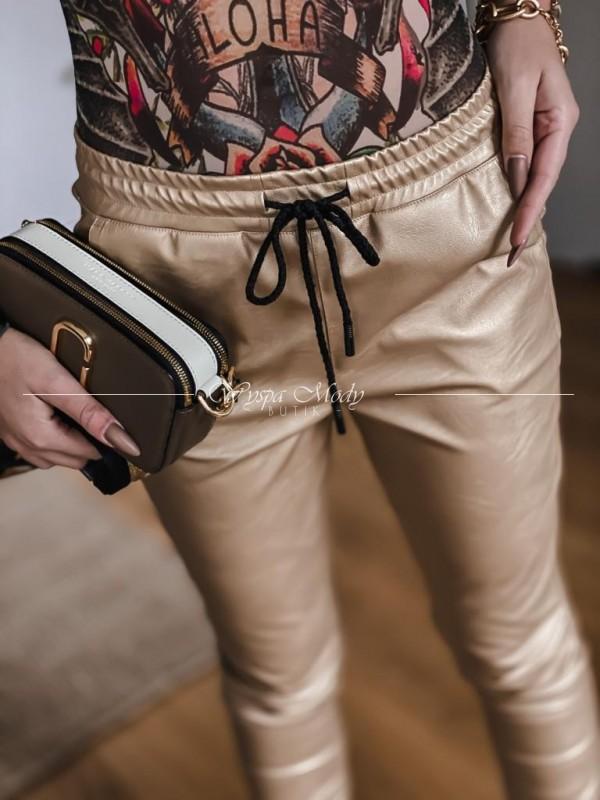 Spodnie skórkowe Sabrina gold