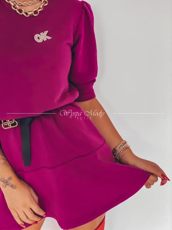 Sukienka ok plum