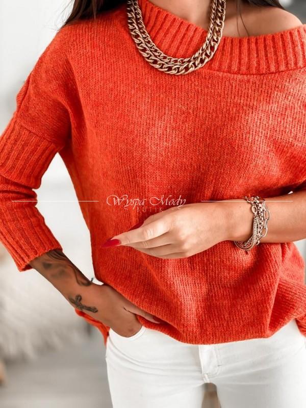 Sweter włoska przędza orange