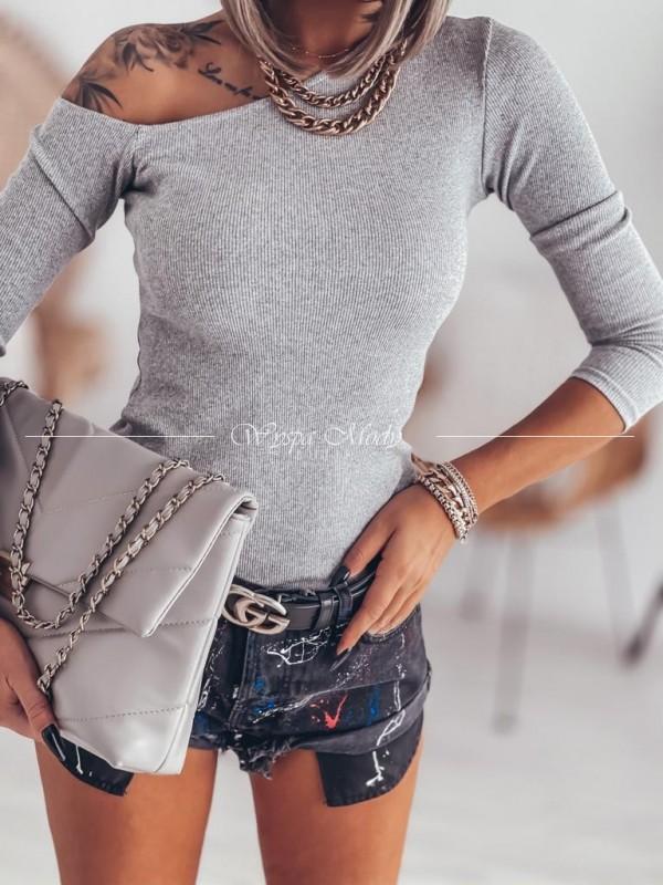 Bluzka prążek grey