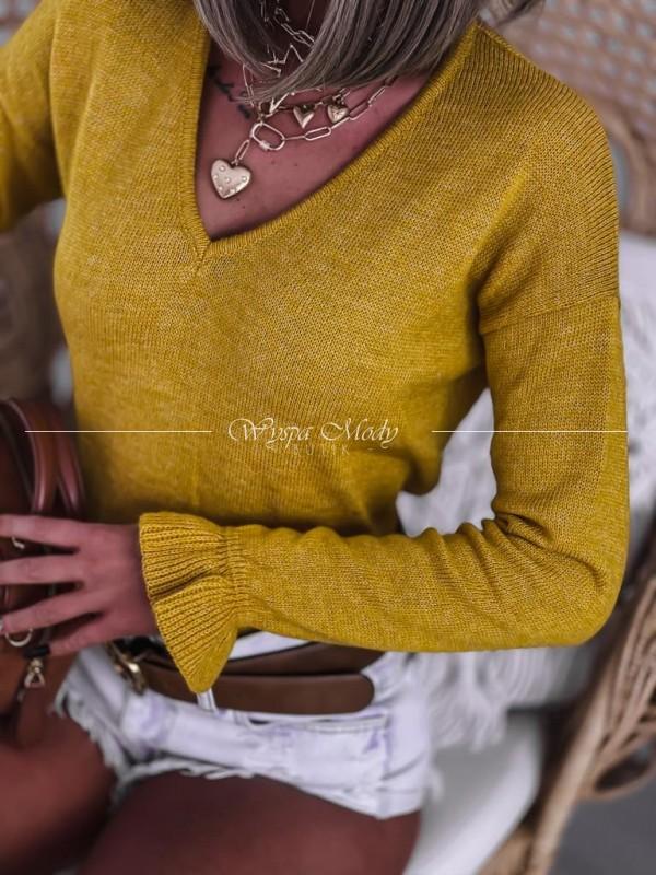 Sweterek Musztarda Fakbana
