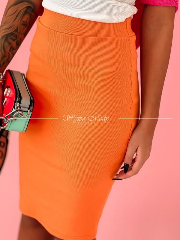 Spódnica ołówkowa orange