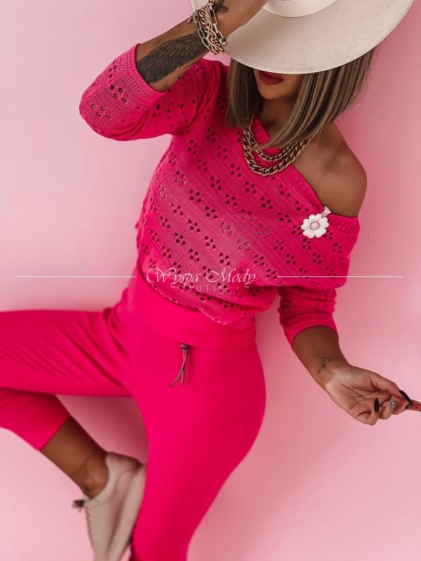 Spodnie neon pink