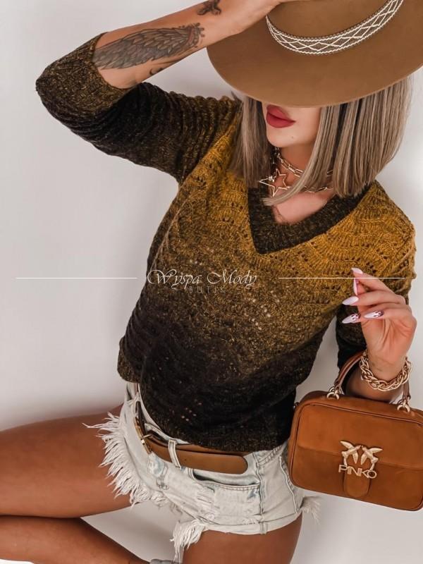 Sweterek Ombre gold