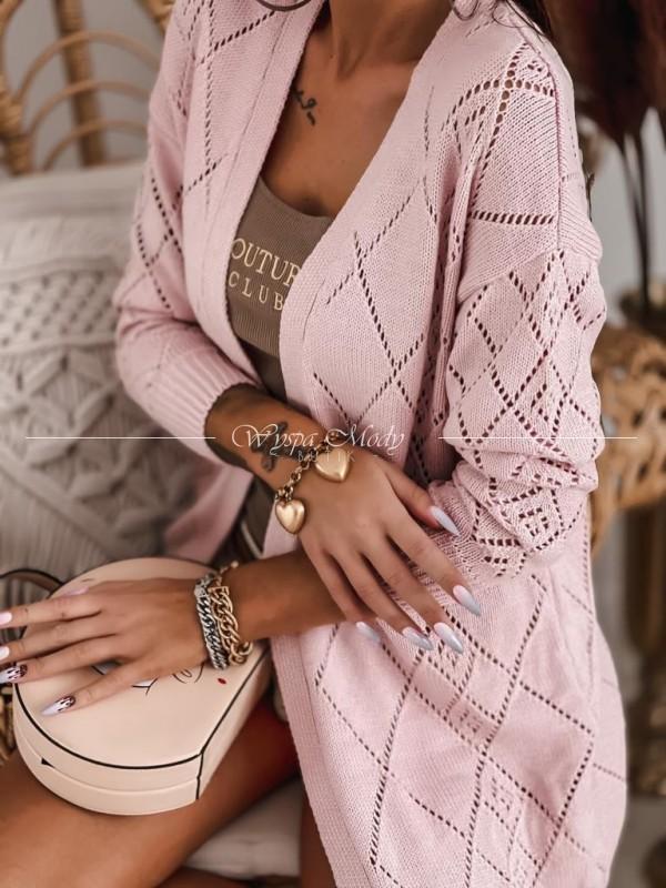 Sweterek ażurek Pink