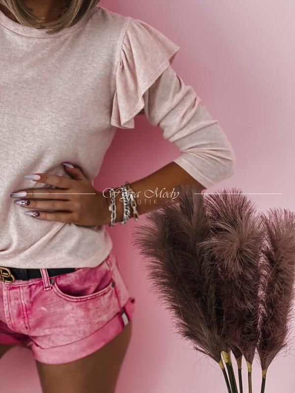 Sweterek Pink z broszka