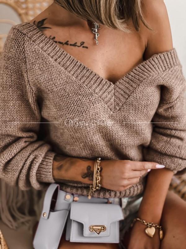 Sweterek v mocca dark