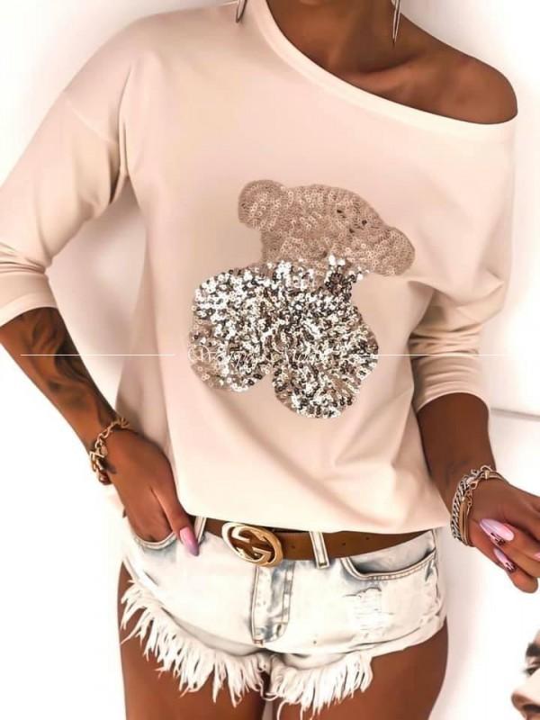 Bawełniana bluzka tous beige