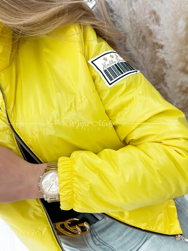 kurtka kod kreskowy yellow