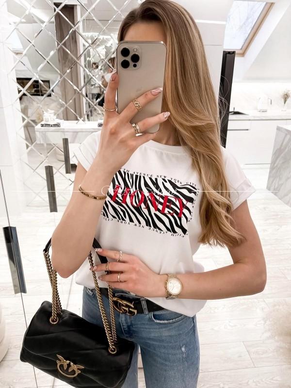 Tshirt Honey white