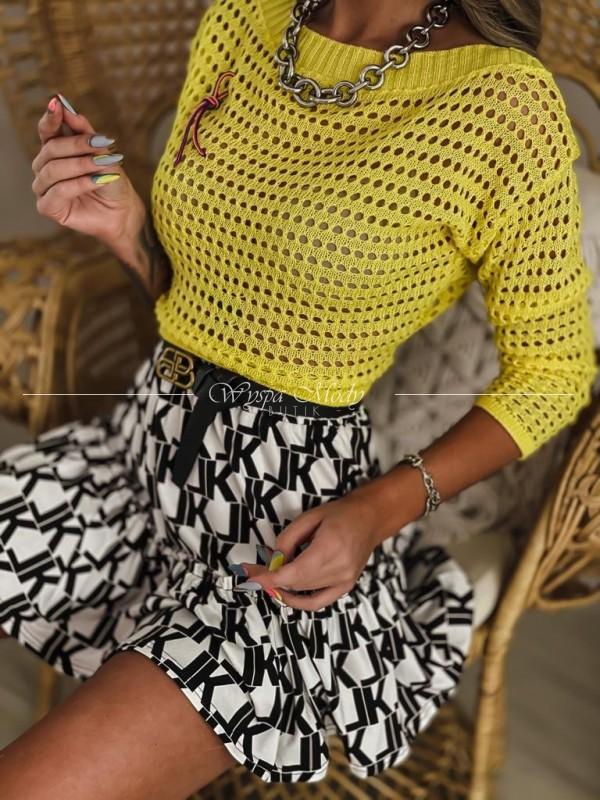 Sweterek Ażurek Yellow