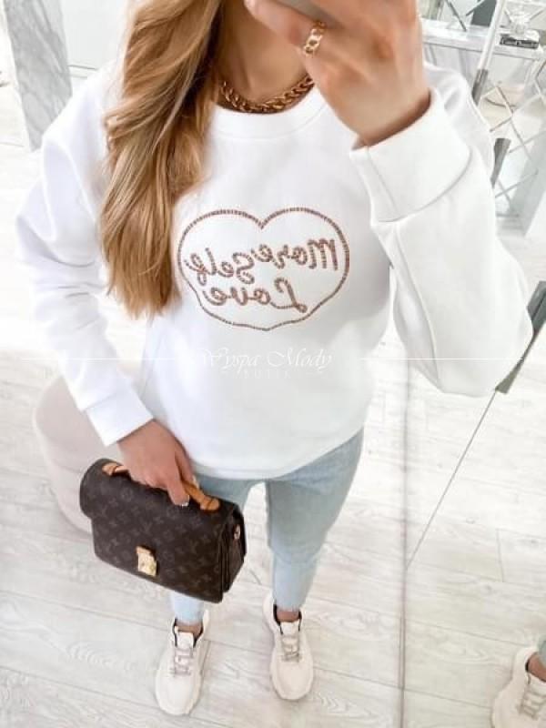 Bluza heart Love white