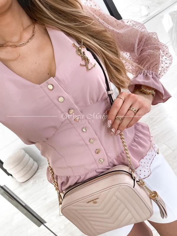 Koszula koronka pink